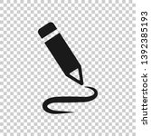 pencil notepad icon in... | Shutterstock .eps vector #1392385193