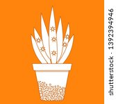 vector illustration with potted ... | Shutterstock .eps vector #1392394946