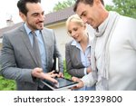 real estate agent showing house ... | Shutterstock . vector #139239800