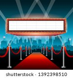 hollywood movie red carpet... | Shutterstock .eps vector #1392398510