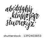 hand drawn alphabet. texture... | Shutterstock .eps vector #1392403853