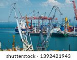 industrial port in odessa city  ... | Shutterstock . vector #1392421943