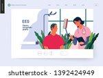 medical tests template   eeg  ... | Shutterstock .eps vector #1392424949