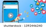 facebook and instagram... | Shutterstock .eps vector #1392446240