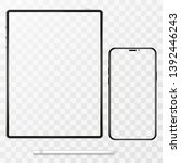 iphone and ipad tablet vector... | Shutterstock .eps vector #1392446243