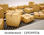 packages are being sorted on... | Shutterstock . vector #139249526