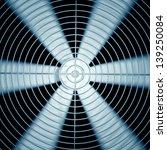 spinning fan closeup. | Shutterstock . vector #139250084