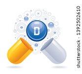 vitamin d supplement for health.... | Shutterstock .eps vector #1392502610