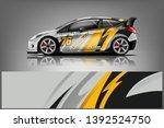 car decal wrap design vector.... | Shutterstock .eps vector #1392524750