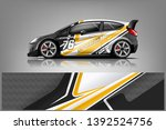 car decal wrap design vector.... | Shutterstock .eps vector #1392524756