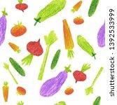 hand made seamless pattern... | Shutterstock . vector #1392533999