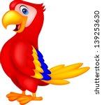 cute macaw bird cartoon posing | Shutterstock .eps vector #139253630