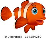 cute clown fish cartoon | Shutterstock .eps vector #139254260