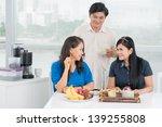 image of talking seniors at tea | Shutterstock . vector #139255808