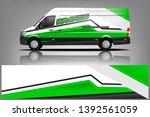 cargo van decal design vector....   Shutterstock .eps vector #1392561059