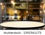 wooden table on abstract...   Shutterstock . vector #1392561173