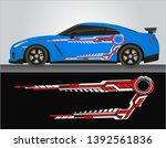 vinyls sticker decals for body... | Shutterstock .eps vector #1392561836