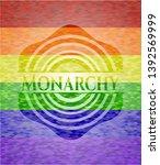 monarchy emblem on mosaic... | Shutterstock .eps vector #1392569999