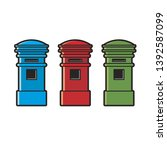 colorful post box variations... | Shutterstock .eps vector #1392587099