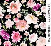seamless summer pattern with... | Shutterstock . vector #1392596159