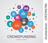 crowdfunding trendy ui bubble...