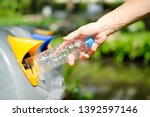 please dispose of plastic... | Shutterstock . vector #1392597146