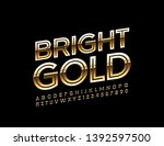 vector bright gold alphabet... | Shutterstock .eps vector #1392597500