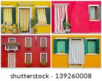 colorful buildings in burano... | Shutterstock . vector #139260008