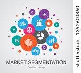 market segmentation concept... | Shutterstock .eps vector #1392600860