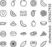 thin line vector icon set  ... | Shutterstock .eps vector #1392617933