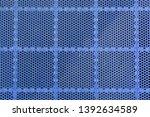 close up of blue futsal court... | Shutterstock . vector #1392634589