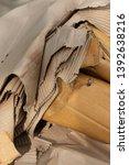 close up of old ruin cardboard... | Shutterstock . vector #1392638216