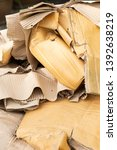 close up of old ruin cardboard... | Shutterstock . vector #1392638219