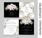 cherry blossom folded wedding... | Shutterstock .eps vector #1392638783