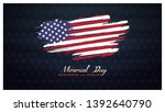 memorial day remember and honor ... | Shutterstock .eps vector #1392640790