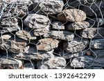 close up of rock stacked in... | Shutterstock . vector #1392642299