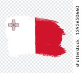 flag malta from brush strokes.  ...