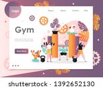 gym vector website template ... | Shutterstock .eps vector #1392652130