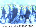 face recognition technology... | Shutterstock . vector #1392652700