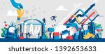 contemporary society full of... | Shutterstock .eps vector #1392653633