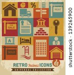 real estate icons set.vector | Shutterstock .eps vector #139265900