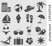 summer icons set.vector | Shutterstock .eps vector #139265918