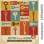 Key Icons Set.vector