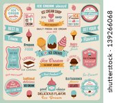 collection of ice cream design... | Shutterstock .eps vector #139266068