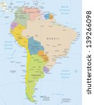 south america highly detailed... | Shutterstock .eps vector #139266098