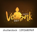 illustration of happy vesak day ... | Shutterstock .eps vector #1392680969