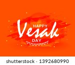 illustration of happy vesak day ... | Shutterstock .eps vector #1392680990