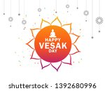 illustration of happy vesak day ... | Shutterstock .eps vector #1392680996
