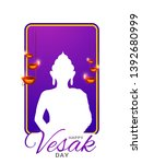 illustration of happy vesak day ... | Shutterstock .eps vector #1392680999