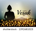 illustration of happy vesak day ... | Shutterstock .eps vector #1392681023